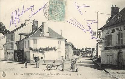 """CPA FRANCE 77  """"La Ferté Gaucher, Rue de Strasbourg"""""""