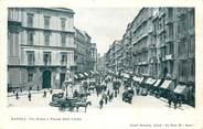 """Italie CPA ITALIE """"Naples, Via Roma e Piazza della Carita"""""""