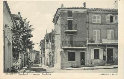 ".CPA FRANCE 84 "" Cadenet,  Avenue Gambetta"""