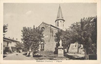 ".CPA FRANCE 84 "" Cadenet,  L'église"""