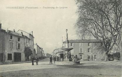 ".CPA FRANCE 84 "" Courthezon, Faubourg de Luyne"""