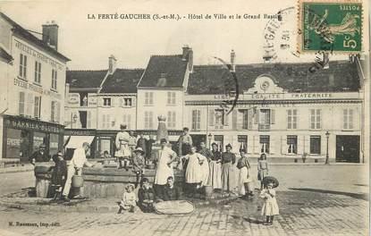 """CPA FRANCE 77  """"La Ferté Gaucher, Hotel de Ville"""""""