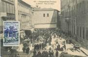 """84 Vaucluse .CPA  FRANCE 84 """" Carpentras, Le marché place du Palais"""""""