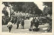 """84 Vaucluse .CPA  FRANCE 84 """" Carpentras, Le grand marché aux primeurs"""""""