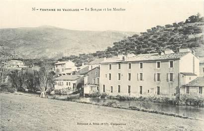 """.CPA  FRANCE 84 """" Fontaine de Vaucluse, La Sorgue et les moulins"""""""