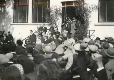 """PHOTO DE PRESSE ORIGINALE  /  FRANCE 11 """"Narbonne, Inauguration de la station oenologique par Léon Blum, 1936"""""""
