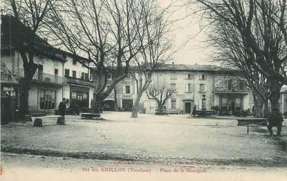 """.CPA  FRANCE 84 """" Grillon, Place de la Bourgade  """""""
