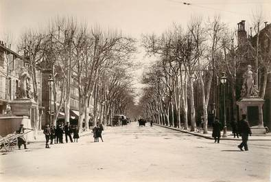 "PHOTO ORIGINALE  /  FRANCE 13  ""Aix, le cours Mirabeau"""