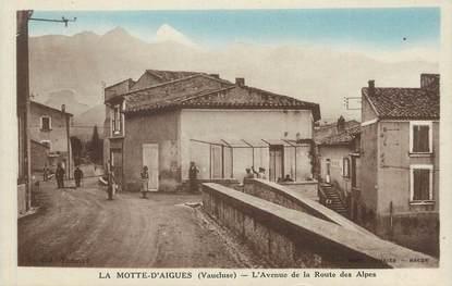 """.CPA  FRANCE 84 """" La Motte d'Aigues, Avenue de la Route des Alpes"""""""