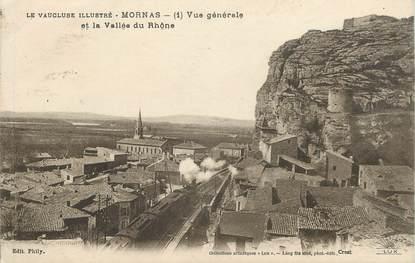 """.CPA  FRANCE 84 """" Mornas, Vue générale et la vallée du Rhône"""""""