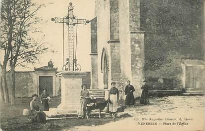 """.CPA  FRANCE 84 """"Ménerbes, Place de l'église"""""""