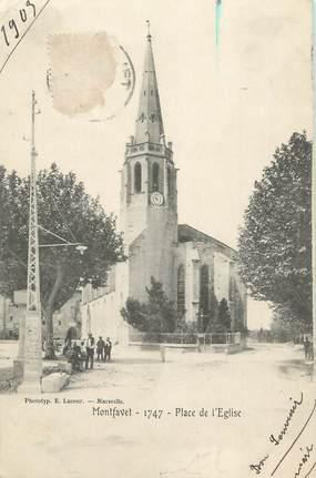 """.CPA  FRANCE 84 """"Montfavet, Place de l""""église"""""""