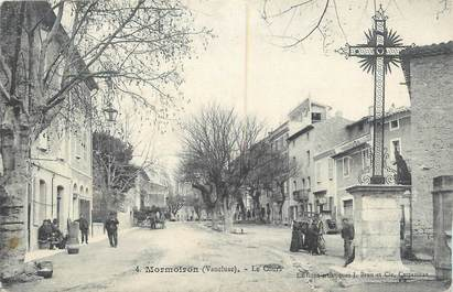 ".CPA  FRANCE 84 ""Mormoiron, Le cours"""