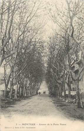 """.CPA  FRANCE 84 """"Monteux, Avenue de la Porte Neuve"""""""