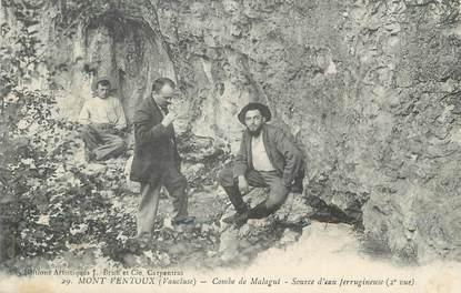 """.CPA  FRANCE 84 """"Mont Ventoux, Combe de Malagut source d'eau ferrugineuse"""""""