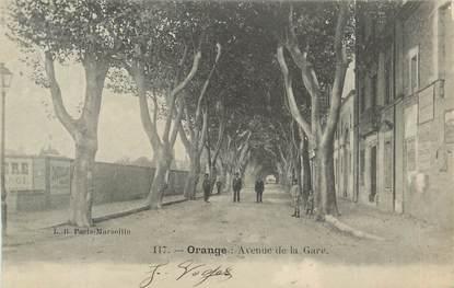 ".CPA  FRANCE 84 ""Orange, Avenue de la gare"""