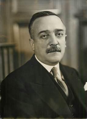 """PHOTO ORIGINALE / FRANCE 19 """"Portrait d'H. Queuille, sénateur de la Corrèze, né à Neuvic"""""""