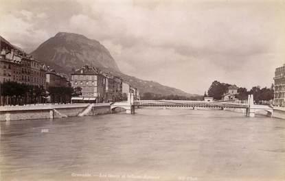 """PHOTO ORIGINALE / FRANCE 38 """"Grenoble, les quais et le Saint Eynard"""""""