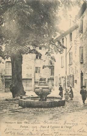""".CPA  FRANCE 84 """"Pertuis,  Place et fontaine de l'ange"""""""