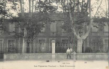 """.CPA  FRANCE 84 """"Les Vignères, Ecole communale"""""""