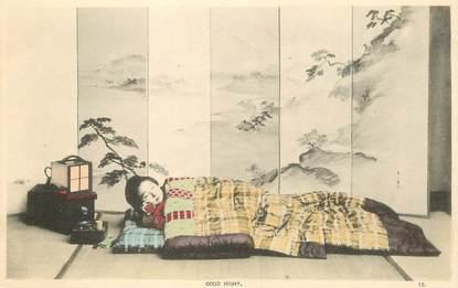 CPA  JAPON / GEISHA dormant