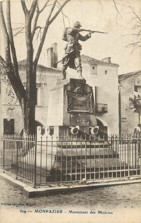 "CPA FRANCE 24 ""Monpazier, monument aux morts"""