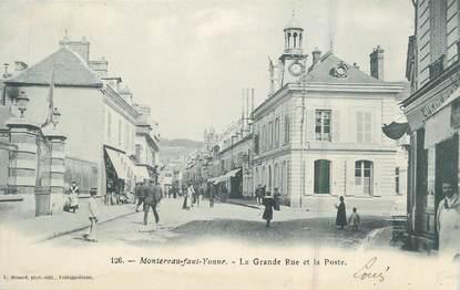 """.CPA  FRANCE 77 """"Montereau - Faut - Yonne, La grande rue et la Poste"""""""