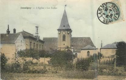 """.CPA FRANCE 77 """"Jossigny, L'église, les écoles"""""""