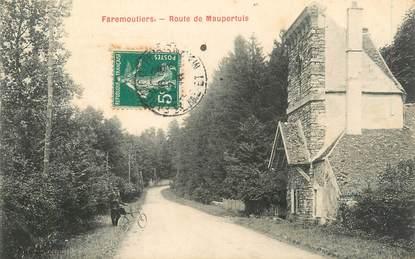 """.CPA FRANCE 77 """"Faremoutiers, Route de Maupertuis"""""""