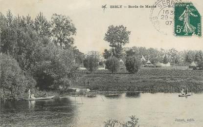 ".CPA  FRANCE 77 ""Esbly, Bords de Marne"""