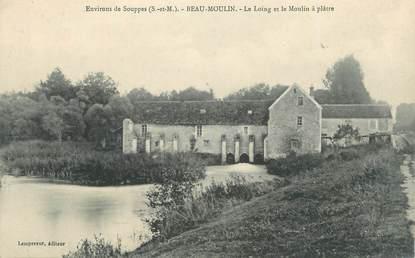 """.CPA  FRANCE 77 """"Beau Moulin, Le Loing et le moulin à plâtre"""""""