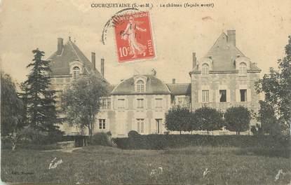 ".CPA  FRANCE 77 ""Courquetaine, Le château"""