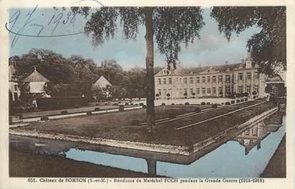 """.CPA  FRANCE 77 """"Bombon, Le château"""""""