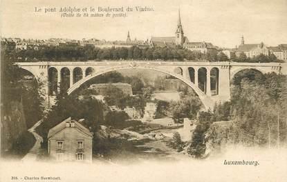 """CPA LUXEMBOURG """"Le Pont Adolphe et le Bld du Viaduc"""""""