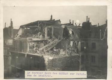 """PHOTO ORIGINALE / FRANCE 75 """"Paris, le dernier raid des Gothas, rue de Mézières"""""""
