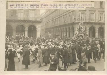 """PHOTO ORIGINALE / FRANCE 75 """"Paris, Les Fêtes de Jeanne d'Arc place des Pyramides"""""""