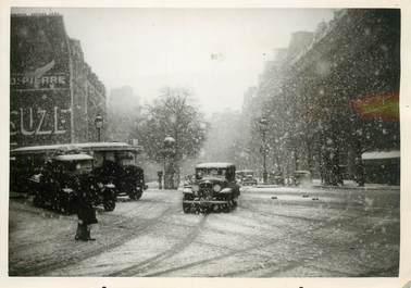 """PHOTO ORIGINALE / FRANCE 75 """"Paris, sous la neige"""""""