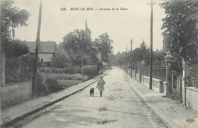 ".CPA FRANCE 77 ""Bois le Roi, Avenue de la gare"""