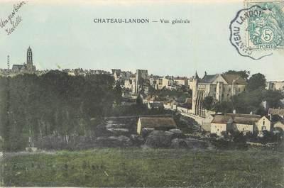 """.CPA  FRANCE 77 """"Château Landon, Vue générale"""""""