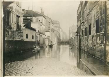 """PHOTO ORIGINALE / FRANCE 75 """"Paris, rue du Chemin Vert pendant les inondations"""""""
