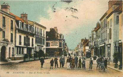 """.CPA  FRANCE 77 """"Nemours, Rue de Paris"""""""
