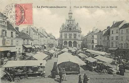 """CPA FRANCE 77  """"La Ferté sous Jouarre, Place de l'Hôtel de Ville"""""""