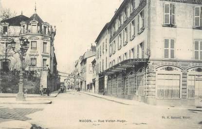 """.CPA FRANCE  71  """"Macon, rue Victor Hugo"""""""