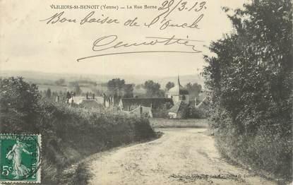 """.CPA  FRANCE 89 """"Villiers St Benoit, La rue Borne"""""""