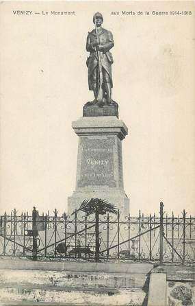 """.CPA  FRANCE 89 """"Venizy, Le monument aux morts"""""""