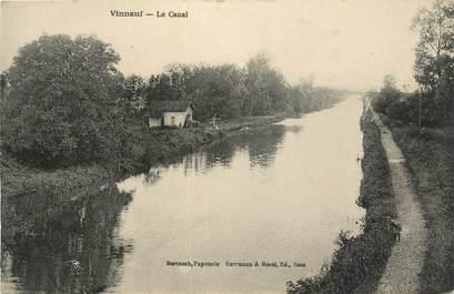 ".CPA  FRANCE 89 ""Vinneuf, Le canal"""