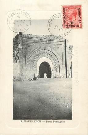 """CPA MAROC """"Marrakech, porte Portugaise"""""""