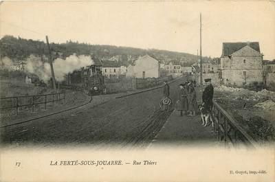 """CPA FRANCE 77  """"La Ferté sous Jouarre, Rue Thiers"""""""