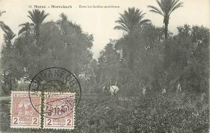 """CPA MAROC """"Marrakech, dans les Jardins extérieurs"""""""