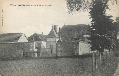 ".CPA  FRANCE 89 ""Fleury Vallée, L'ancien château"""